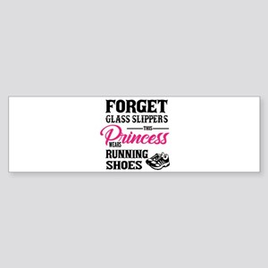 This Princess Wears Running Shoes Bumper Sticker