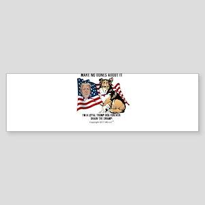 FABULOUSLY COLORFUL PRO-TRUMP LOYAL DOG & FLAG