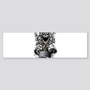 Off-Road Tire Skulltree Bumper Sticker