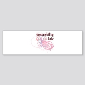 Snowmobiling Babe Bumper Sticker