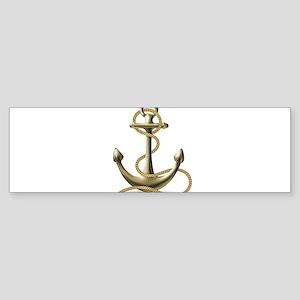 Gold Anchor Bumper Sticker
