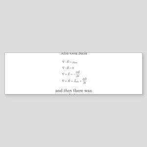 Maxwell's Equations Sticker (Bumper)