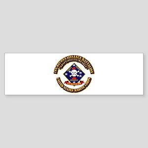1st - Reconnaissance Bn With Text USMC Sticker (Bu