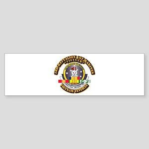SSI - 3rd Bn - 1st Marines w VN SVC Ribbon Sticker