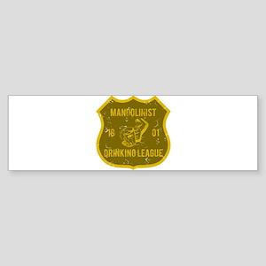 Mandolinist Drinking League Bumper Sticker