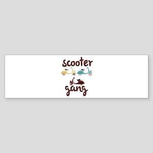 Scooter Gang Bumper Sticker