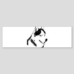 Siberian Husky Sled Dog Sticker (Bumper)