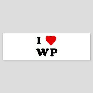 I Love WP Bumper Sticker