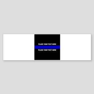 Thin Blue Line Customized Sticker (Bumper)
