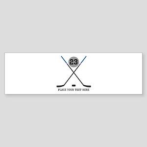 Ice Hockey Personalized Sticker (Bumper)