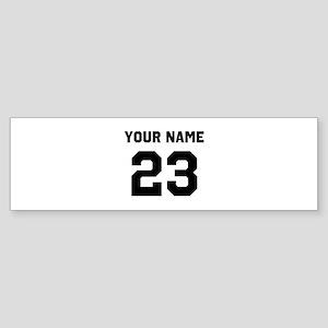 Customize sports jersey number Sticker (Bumper)