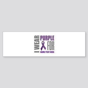 Purple Awareness Ribbon Customize Sticker (Bumper)