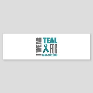 Teal Awareness Ribbon Customized Sticker (Bumper)