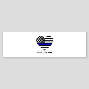 Thin Blue Line Love Sticker (Bumper)