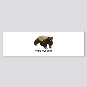 Honey Badger Customized Sticker (Bumper)