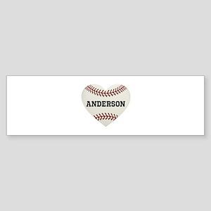Baseball Love Personalized Sticker (Bumper)