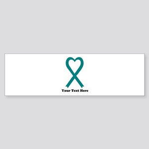 Personalized Teal Awareness Ribb Sticker (Bumper)