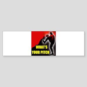 PITCHER Bumper Sticker