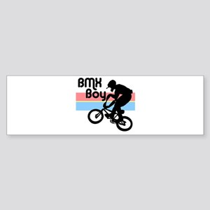 1980s BMX Boy Bumper Sticker