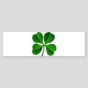 Lucky Charm 4-Leaf Clover Irish Sticker (Bumper)