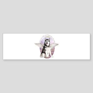 Malamute Angel Sticker (Bumper)
