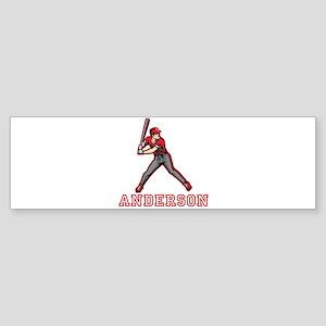 Personalized Baseball Sticker (Bumper)