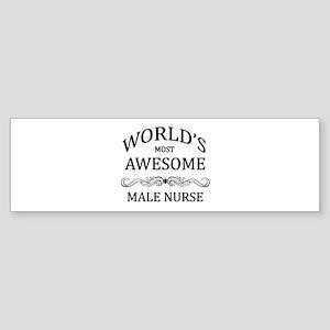 World's Most Awesome Male Nurse Sticker (Bumper)