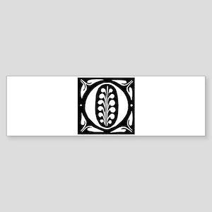 Art Nouveau Initial O Bumper Sticker