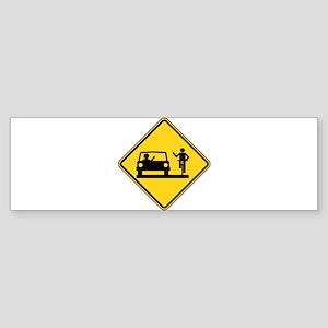 Car vs.Bicycle Road Rage Sticker (Bumper)