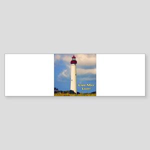 Cape May Light Watercolor Bumper Sticker