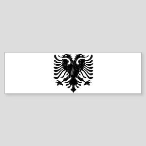 albania_eagle_distressed Bumper Sticker