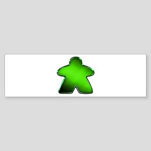 Metallic Meeple - Green Bumper Sticker