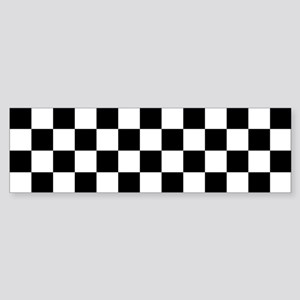 BLACK AND WHITE Checkered Pattern Bumper Sticker