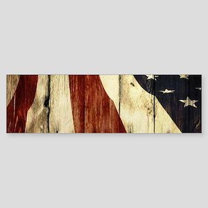 grunge USA flag American patriots Bumper Sticker