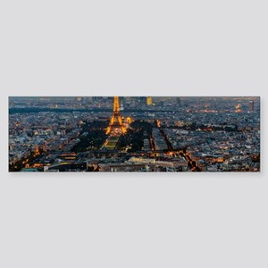 PARIS FROM ABOVE Sticker (Bumper)