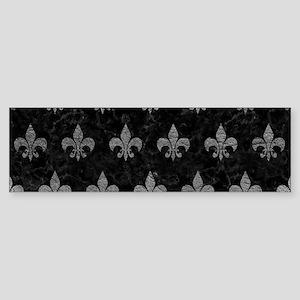 ROYAL1 BLACK MARBLE & GRAY LEATHE Sticker (Bumper)