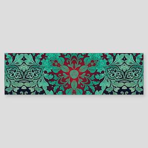 rustic bohemian damask pattern Bumper Sticker