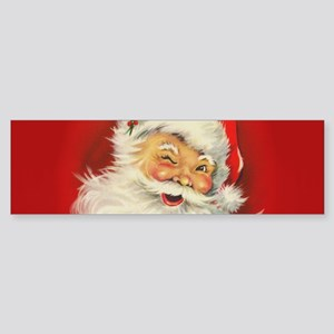 Vintage Christmas Santa Claus Bumper Sticker