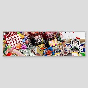 Las Vegas Icons - Gamblers Delight Bumper Sticker