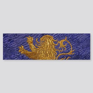 Rampant Lion - gold on blue Bumper Sticker