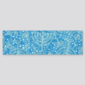 Hanukkah Menorah Pattern Bumper Sticker