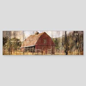 farm red barn Bumper Sticker