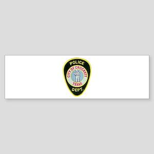 Crockett Police Sticker (Bumper)