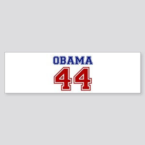 Obama 44 Sticker (Bumper)