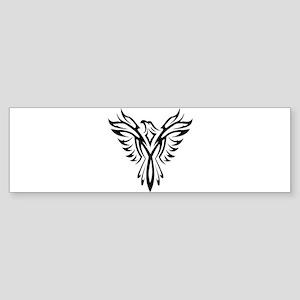 Tribal Phoenix Tattoo Bird Bumper Sticker