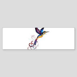 Colorful Hummingbird Bumper Sticker