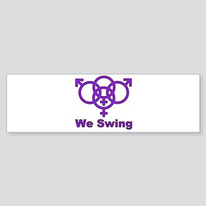 "Swinger Symbol-""We Swing"" Sticker (Bumper)"