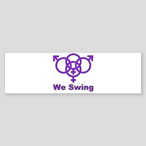 """Swinger Symbol-""""We Swing"""" Sticker (Bumper)"""