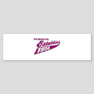 Established in 1958 birthday designs Sticker (Bump