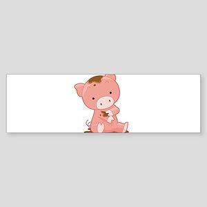 Pig in Mud Bumper Sticker